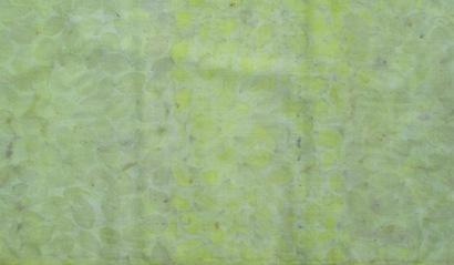 ECO PRINT Perückenstrauch Blätter auf Wolle 2