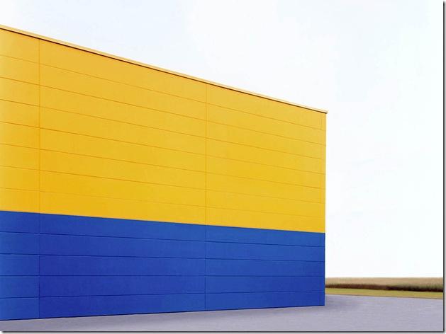 josef schulz_Halle blau-gelb, 2001