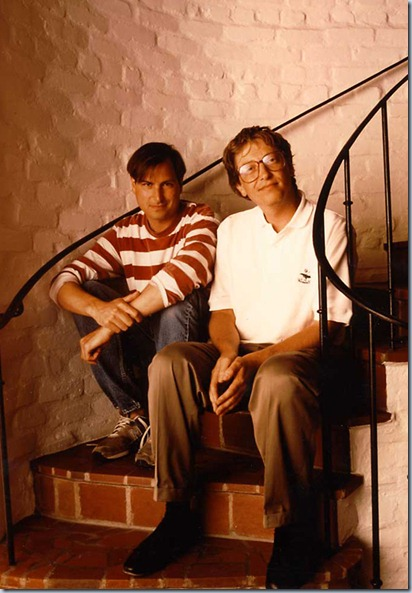 Yyoung Bill Gates and Steve Jobs