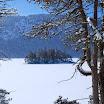 Lac Eibsee en hiver