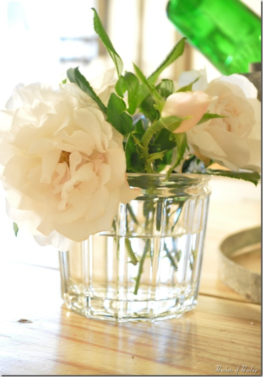 french jelly jar flowers