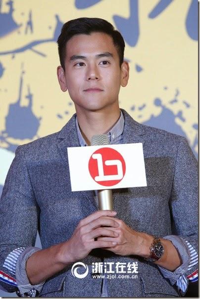 2014.11.11 Eddie Peng during Rise of the Legend - 彭于晏 黃飛鴻之英雄有夢 杭州 - 發佈會 01