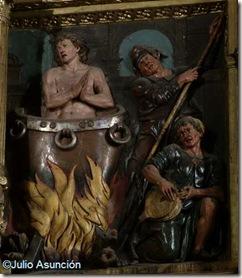 San Juan Evangelista en el caldero de aceite hirviendo - Estella