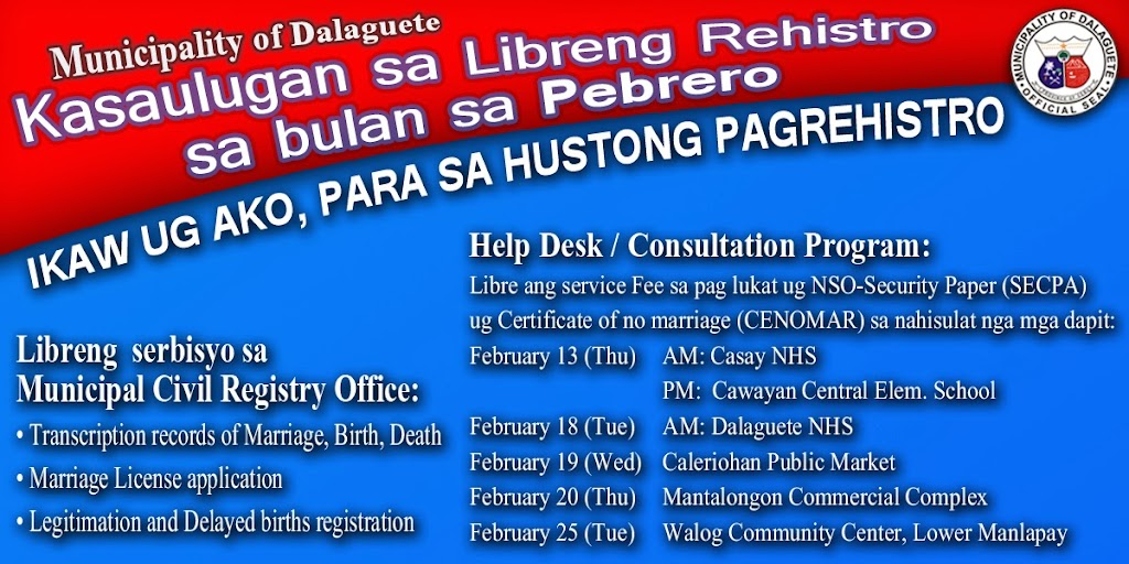 February 2014 - Free Registration Month