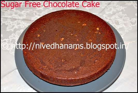 Sugarfree Chocolate Cake - IMG_0095
