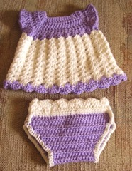 Dress set lilac and white