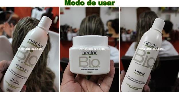 bio reestruture, néctar, perfeita beleza, cabelo danificado