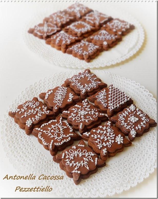 Biscotti al cacao decorati