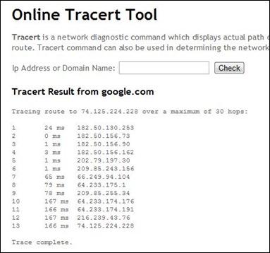 online-tracert-command