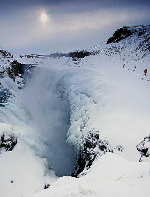 frozen_waterfalls Gullfoss, Iceland