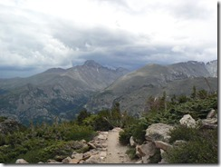 Storm clouds bulding on Longs Peak!