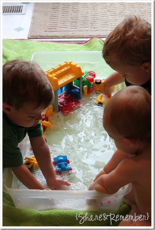 Little People Car Wash Water Play
