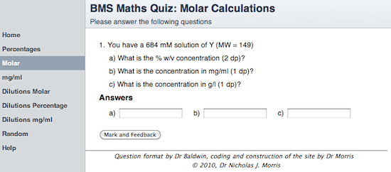 Molar calculations
