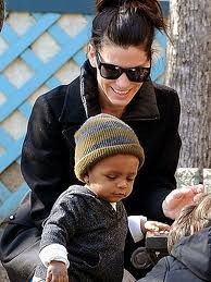 sandra bullock adopted son louie transracial adoption celebrities