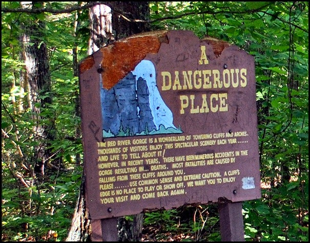 02c - Chimney Top Trailhead - warning sign