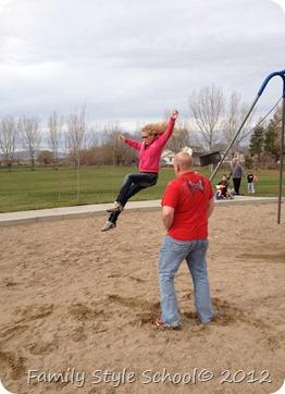 Alyson Jumping off swing
