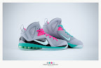nike lebron 9 ps elite grey candy pink 9 38 sneakerbox LeBron 9 P.S. Elite Miami Vice Official Images & Release Date