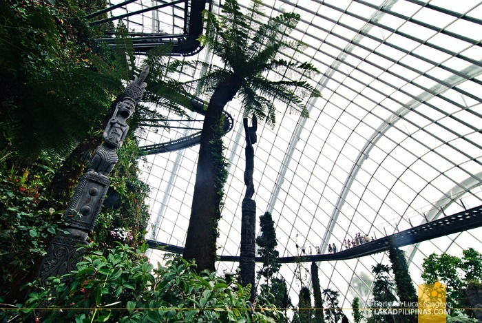 The Cloud Forest Totem Poles at Gardens by the Bay