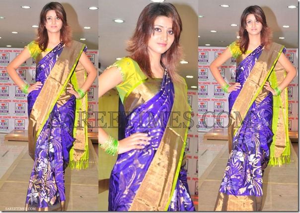 Blue_designer_Silk_Saree