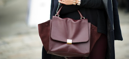 Dear Celine oxblood leather and suede Trapeze Tote, please climb into my stocking, under my tree or onto my arm as soon as possible. Warmest, Carrie