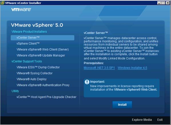 VMware vSphere 5.0 installer