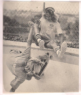Great shot of Jay and Tony messing around on a pool coping