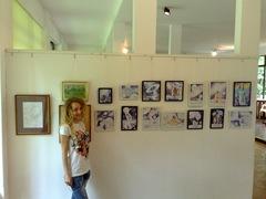 Desene facute cu pixul de Corina Chirila expuse la pavilionul B din Herastrau in cadrul salonului de grafica
