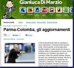PARMA COLOMBA DI MARZIO AGGIORNAMENTI