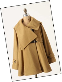 Anthropologie Sweeping Swing Coat