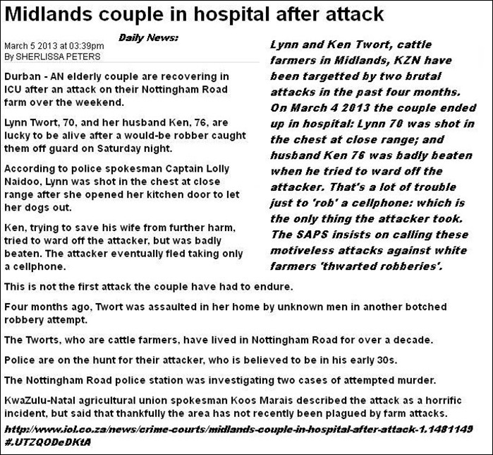 TWORT LYNN 70 AND KEN 76 BADLY INJURED FARM ATTACK MIDLANDS MARCH42013