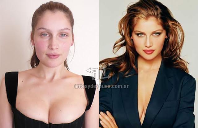 Fotos de la modelo Laetitia Casta sin maquillaje