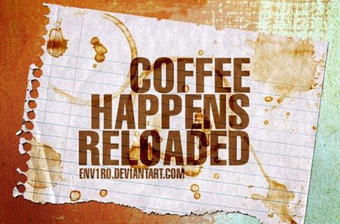 Pinceles con manchas de café