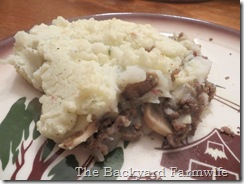 beef n mushroom shepherd's pie -The Backyard Farmwife