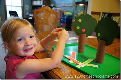 Letter A Sorting Activity for Preschoolers