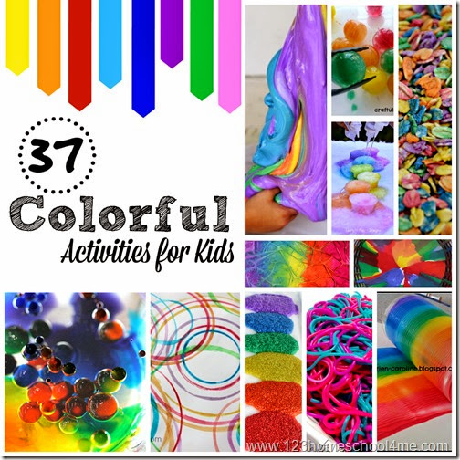 37 Colorful Activities for Kids #kidsactivities #preschool #kindergarten