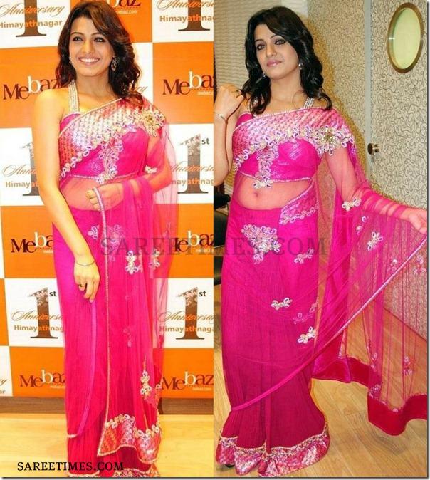 Tashu_Kaushik_Pink_Saree