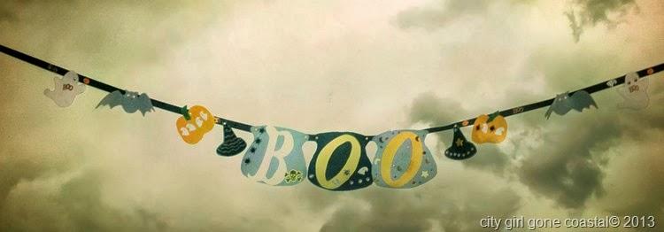 DIY boo banner