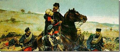 Muerte del General Concha en Monte Muro