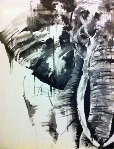 The Elephant Collection, oil on canvas, by KATY JADE DOBSON