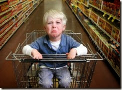 Berrinche en el supermercado