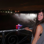 Niagara Falls by night in Niagara Falls, New York, United States