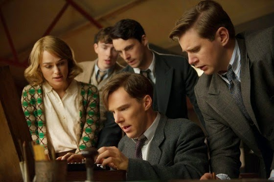Matthew Beard, Matthew Goode, Keira Knightley, Benedict Cumberbatch, Allen Leech in the Imitation Game