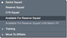 Available for Reserves in FM 2012