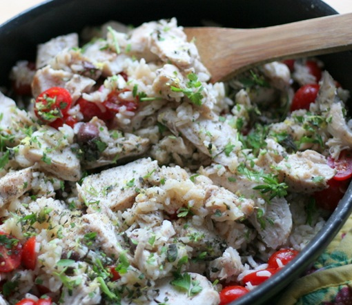 mediterranean chicken and rice 2