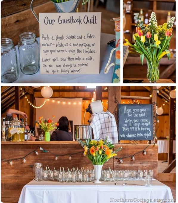 BaRN WeDDiNG - Northern Cottage Quilt Guestbook Sign