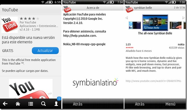 Youtube-Symbian