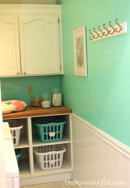 Beadboard in laundry room