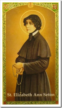st elizabeth ann seton holy card
