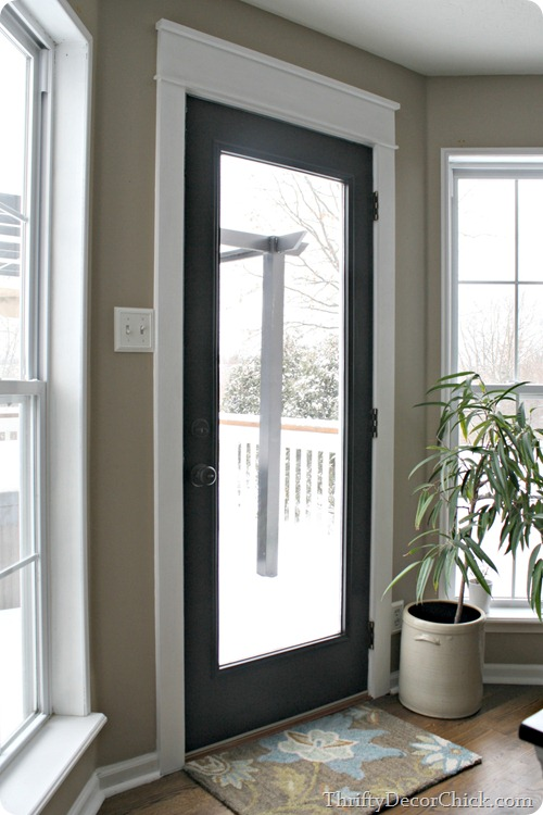 black door white craftsman trim