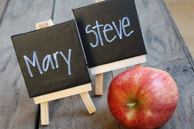 mini chalkboard name cards